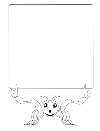 cartoon ant with banner  Vector