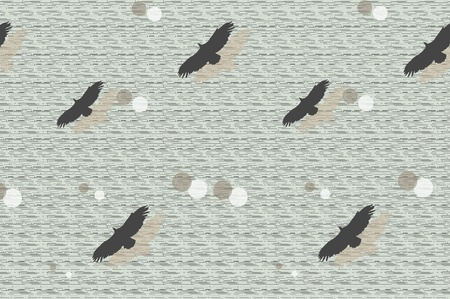 flying birds abstract illustration  Vector