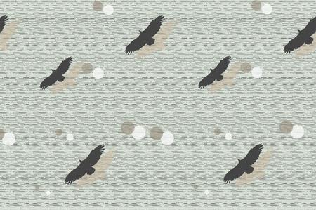 flying birds abstract illustration Stock Vector - 9459698