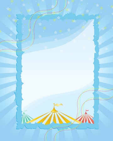 Stock Vector Illustration: A retro circus. red background for a poster
