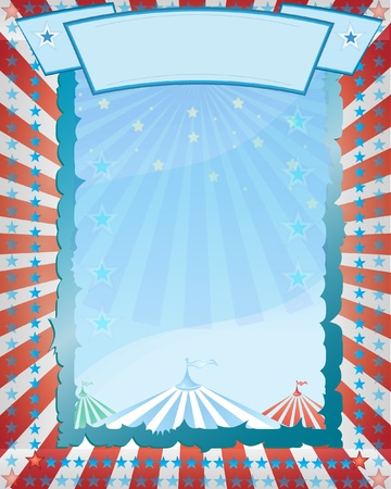 carnival background: Stock Vector Illustration: A retro circus. red background for a poster