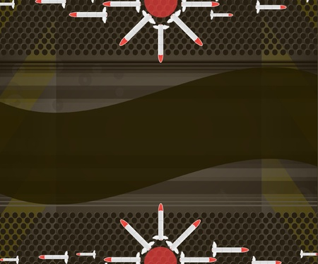 millitary background with rockets  Vector