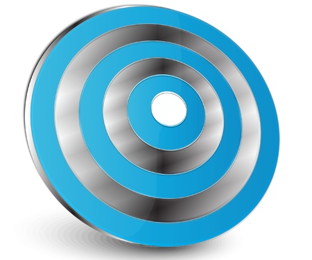 blue amstract target Stock Vector - 9557919