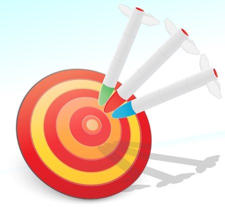 target with missiles Stock Vector - 9557908