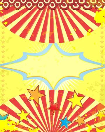 retro poster  circus style Stock Illustratie