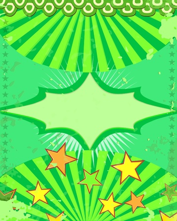 soiree: Vintege holiday  poster green background