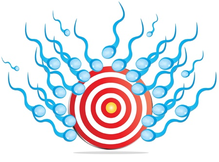 abstract target with   flying sperms Stock Illustratie