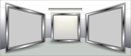 Empty frames on wall  Stock Vector - 10076071