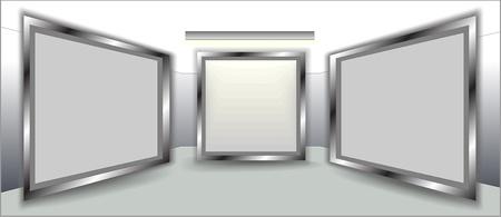 Empty frames on wall  Stock Vector - 10076071