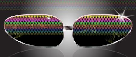 Realistic sun eye glasses Stock Vector - 10056515