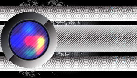 abstract modern stylish metallic background  Vector