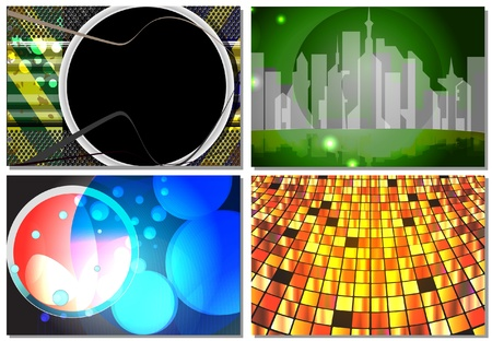 set of abstract backgrounds Stock Vector - 11583120