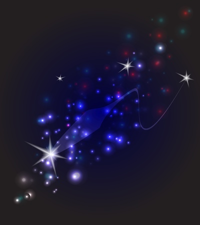 abstract falling star design against dark background Stock Vector - 11583119