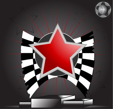 fire plug: Victory Star on podium