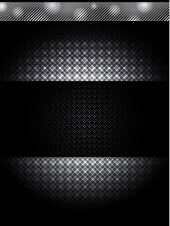 Abstract technology background with grunge metal banner. Vector. Stock Illustratie