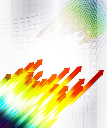 abstract business graph market move up Stock Vector - 12185003