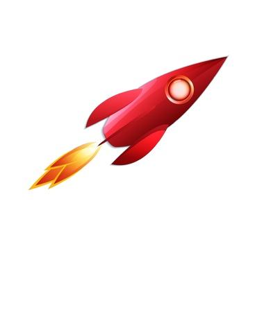 retro space rocket Stock Vector - 12497328