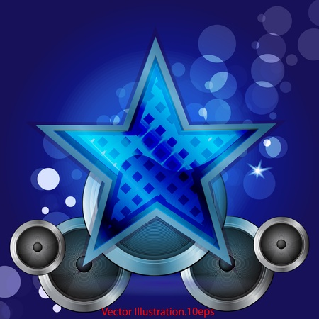 star on blue background Stock Illustratie