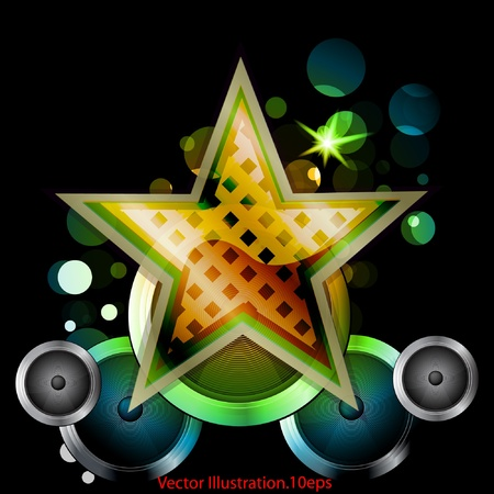 disk jockey: abstract star