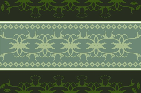 darg green oriental background Vector