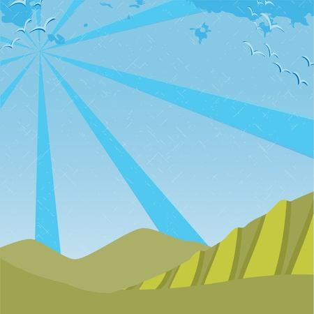 sunny nature background  Vector