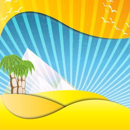 mirage: pyramids mirage illustration  Illustration