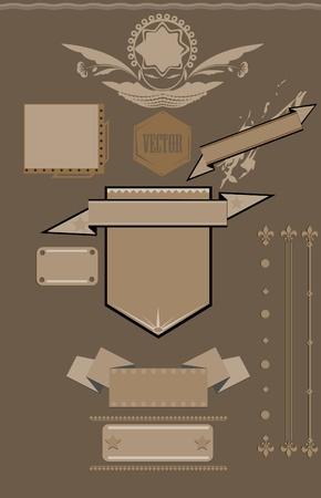 retro design elements for web Vector