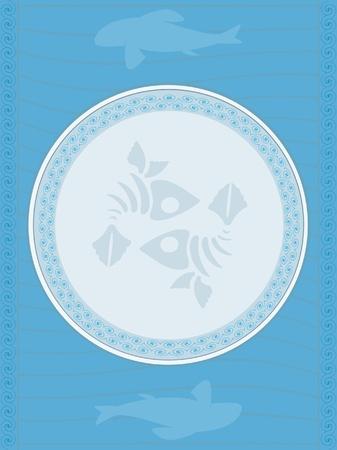 sea food menu background Vector