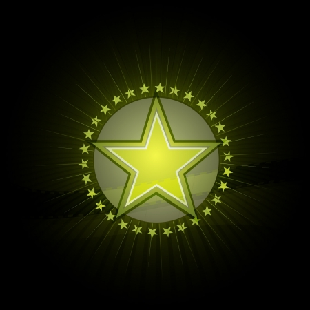 green retro star Vector