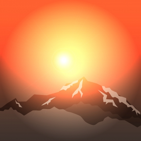 background morning in mountains Stock Vector - 15946735