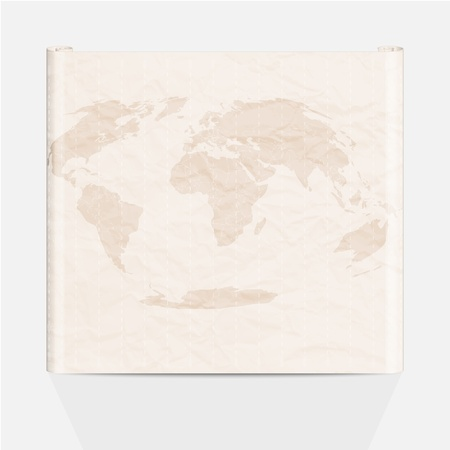 Old map of the world  Vector illustration Stock Vector - 16907599