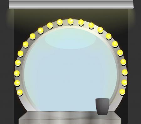 Makeup mirror dark background Stock Vector - 16907601