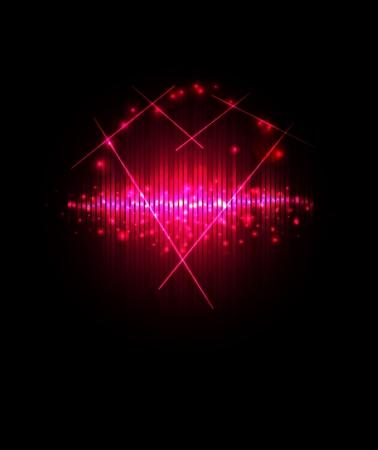 Abstract Shiny Valentine Heart  Vector