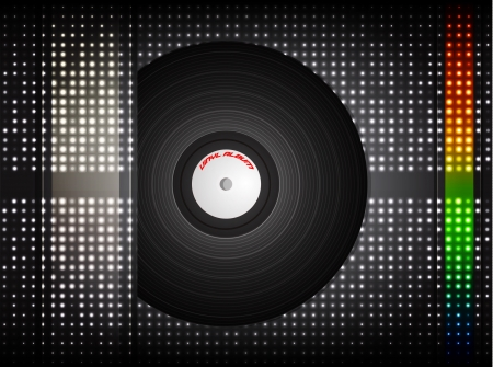 Vinyl record illustration   Vector