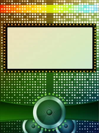 abstract screen with speakers colorful background Vector