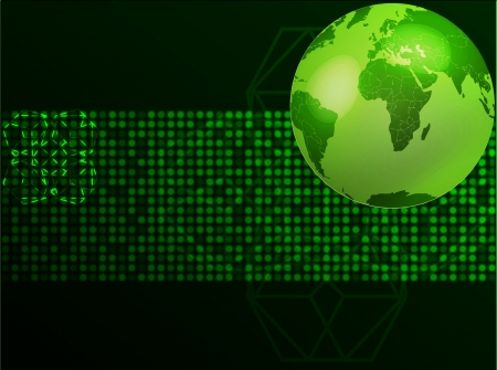 green planet illustration   Vector