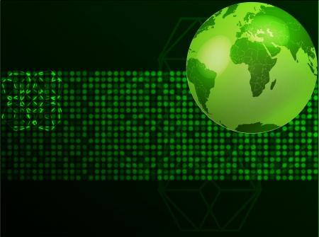 green planet illustration Stock Vector - 17104119