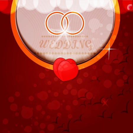 Wedding rings Background Vector illustration Vector