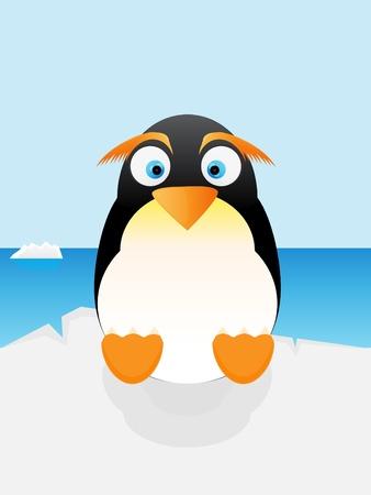 Penguin in Antarctica Stock Vector - 17762603