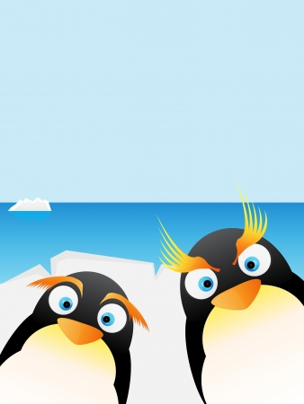 penguins in Antarctica  Stock Vector - 17602224