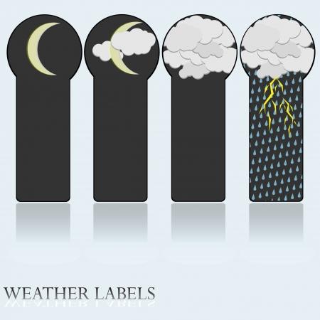 Night weather set  Stock Vector - 18047745
