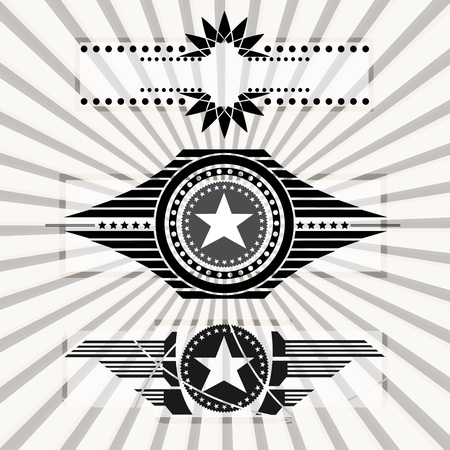 Wings,stars,banners  Vector