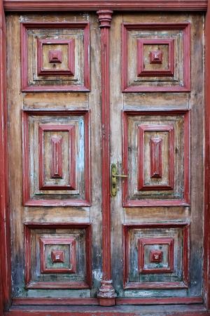 Grunge wooden door photo