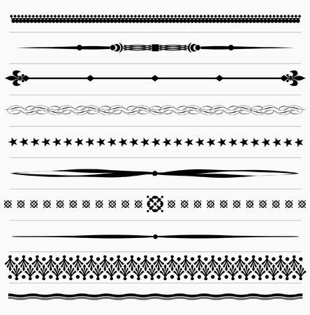 Set of vintage design elements for page text  Stock Illustratie