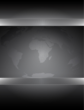 Abstract world map background  Vector