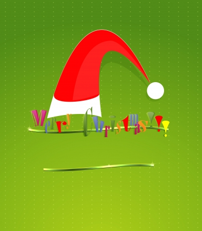 Card  Merry christmas lettering  Vector