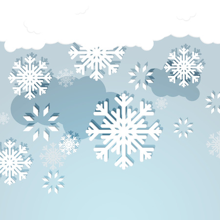 White Snowflakes on Blue Background  Stock Vector - 22271902