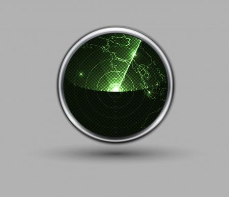 radar web icon Stock Vector - 22637153