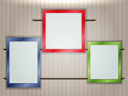 Empty colorful frames