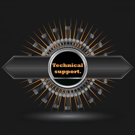 technical service over black background vector illustration  Stock Illustratie